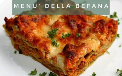 Menù della Befana 2021, delivery e take away